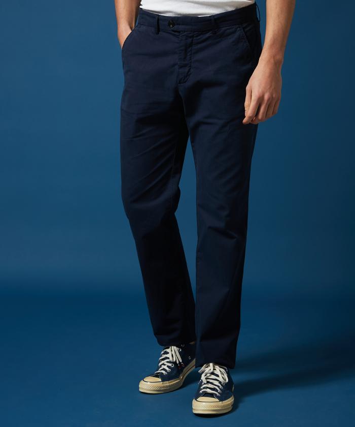 Pantalon Tobby en gabardine légère marine
