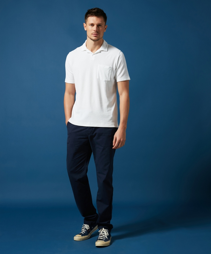 Light gabardine navy Tobby pants
