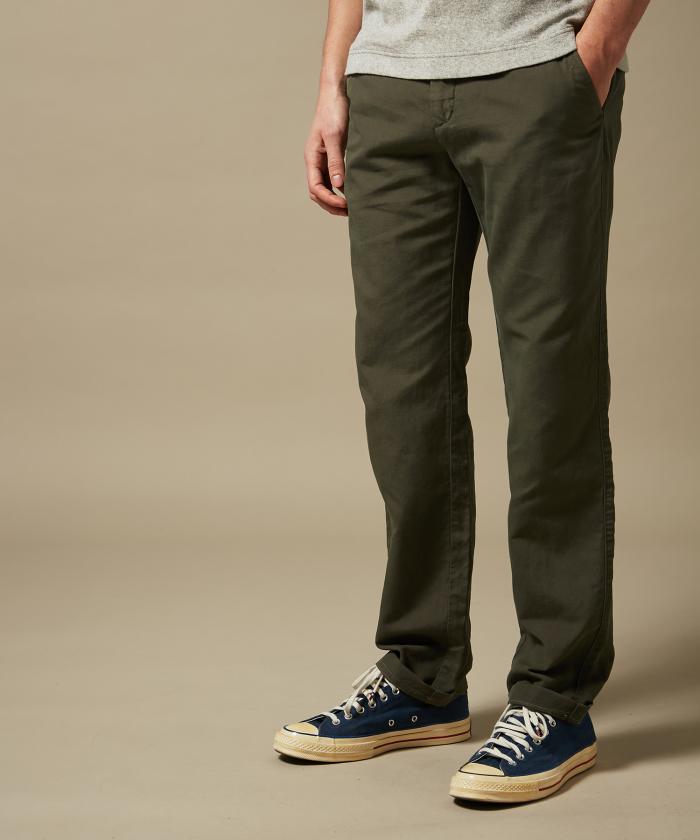 Pantalon Tobby en coton et lin
