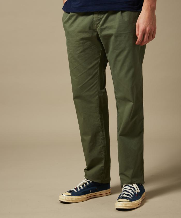 Pantalon casual Tanker en gabardine légère vert olive