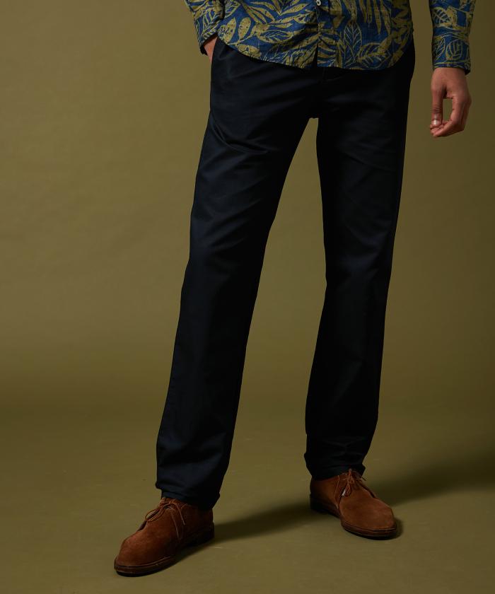 Pantalon Tanker en toile de coton et lin