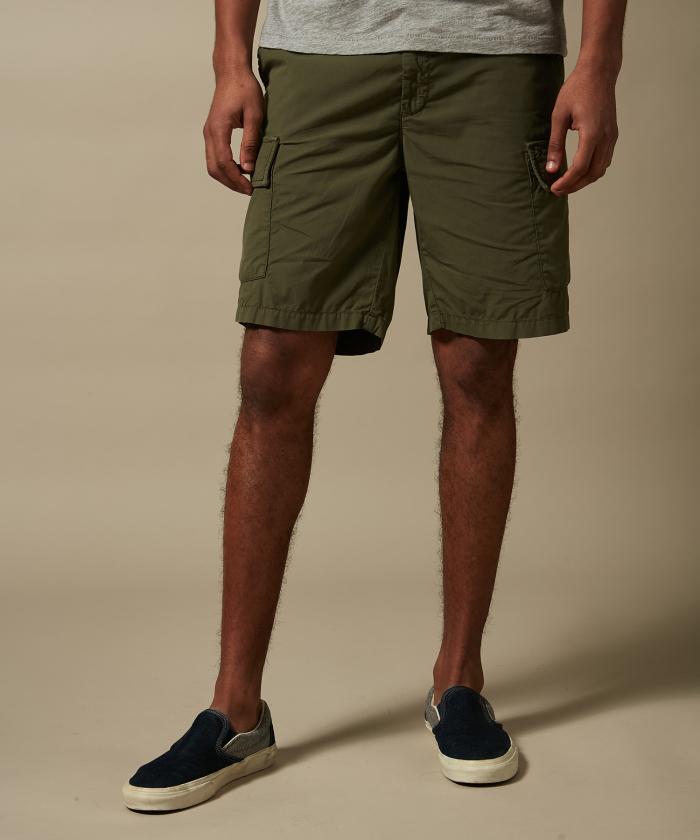 Olive green Trecker pocket shorts