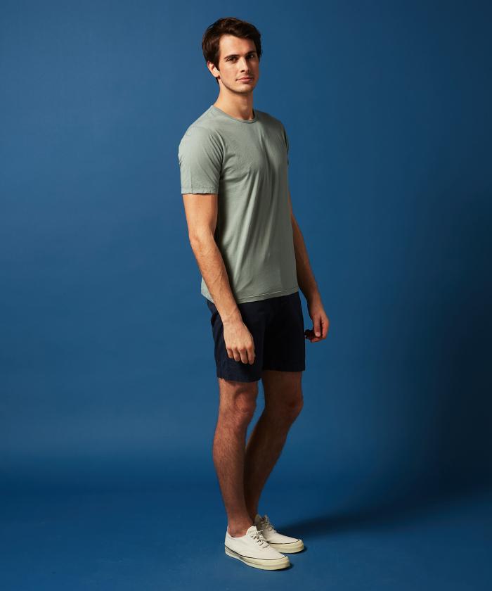 Tee-shirt en light jersey vert-de-gris