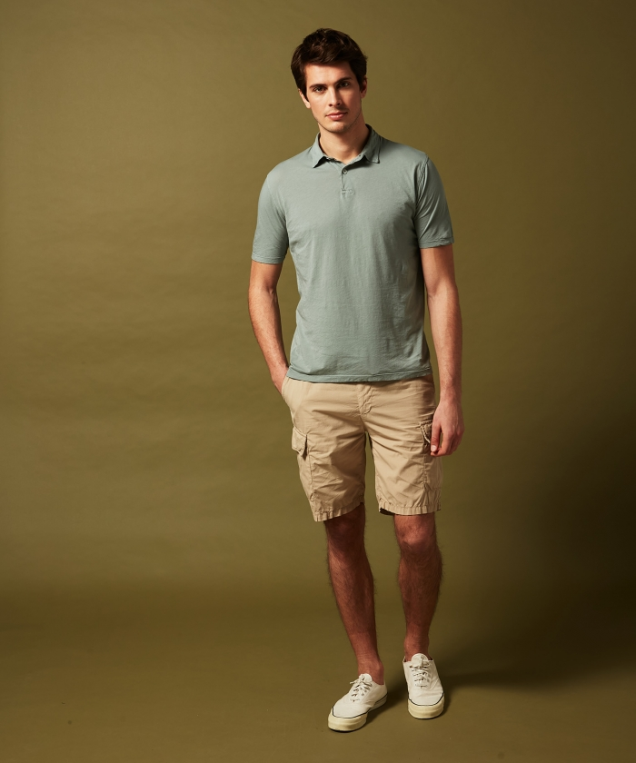 Verdigris light jersey polo