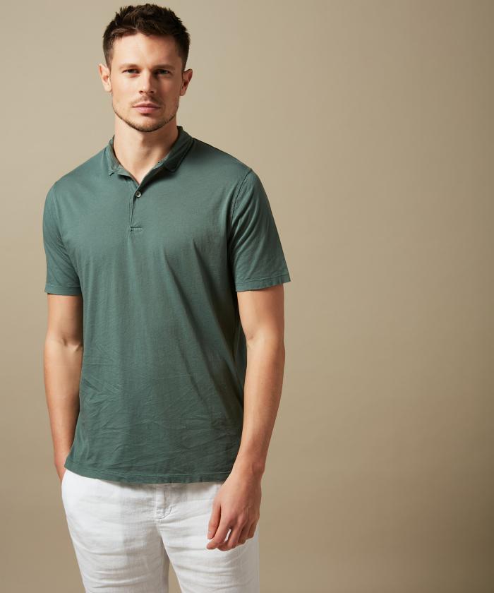 Polo en light jersey vert