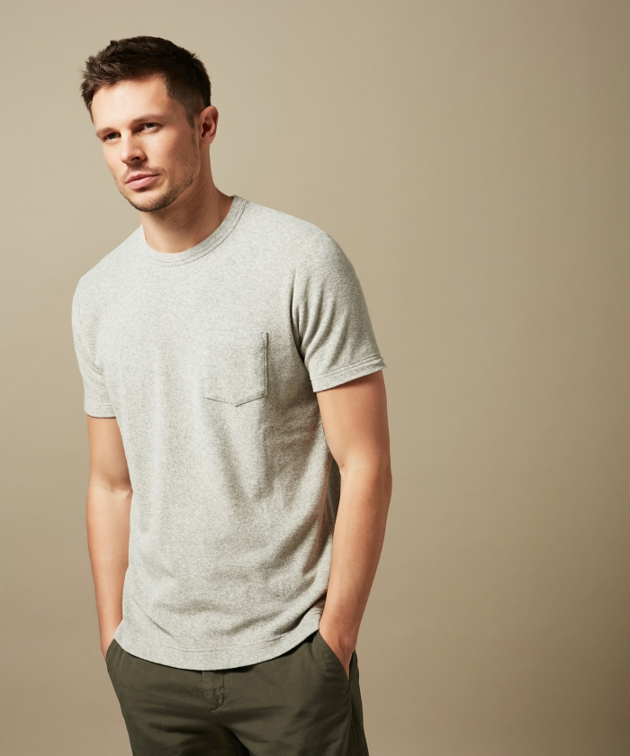 Grey towelling t-shirt