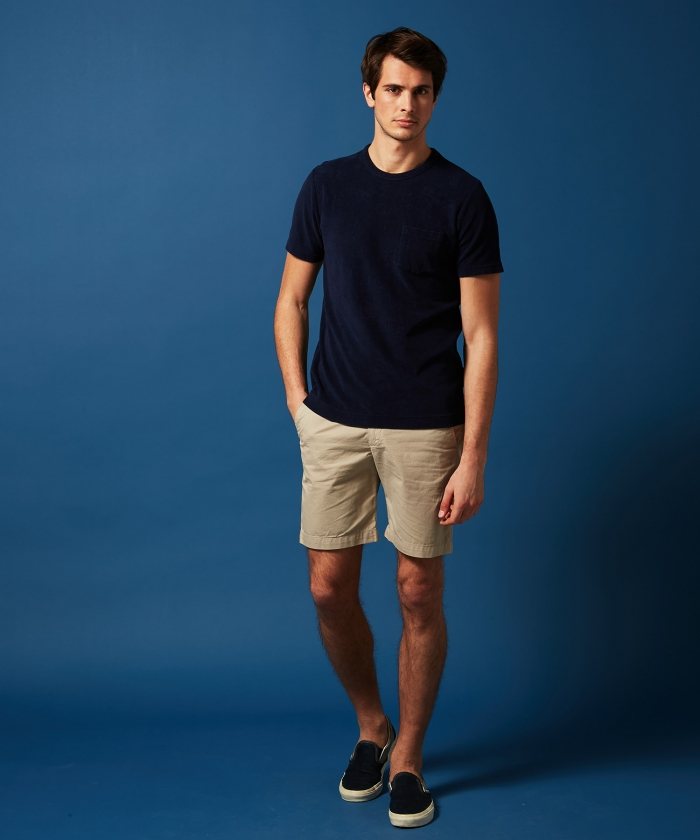 Navy towelling t-shirt