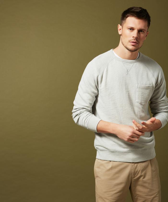 Sweatshirt raglan gris clair