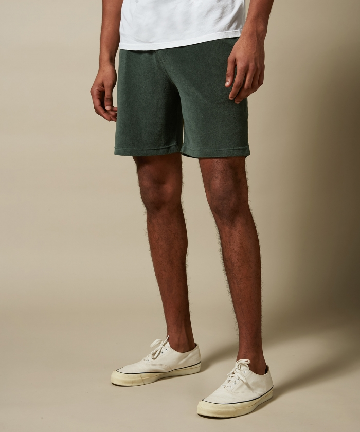 Forest towelling bermuda shorts
