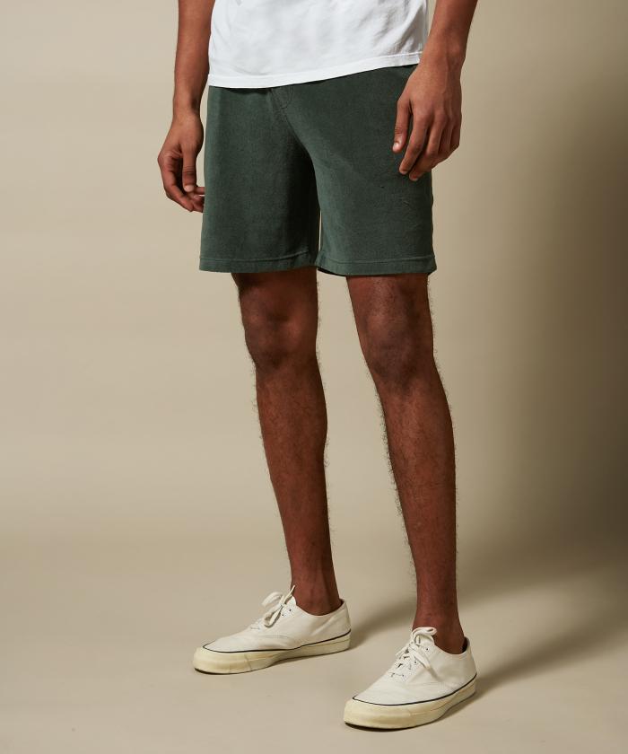 Bermuda en coton éponge vert