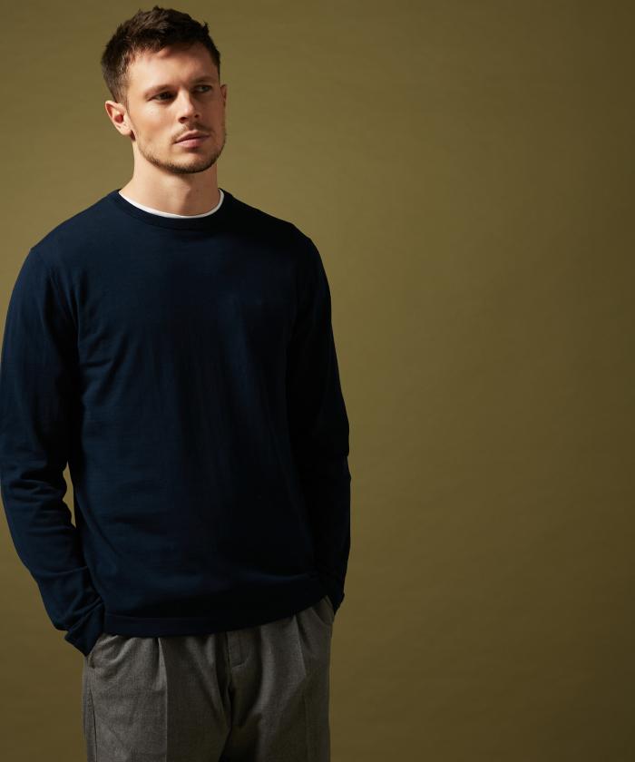 T-shirt en light jersey marine