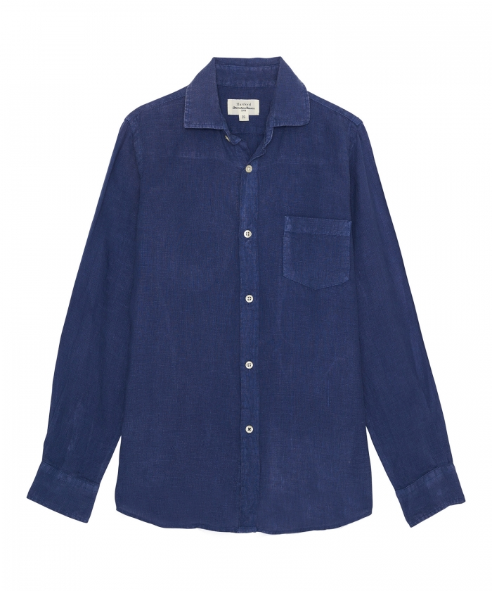 Denim linen Paul kids shirt