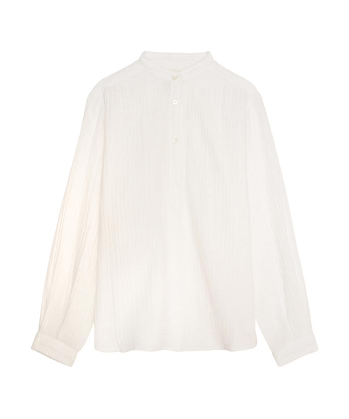 Chemise fille Codex blanche en gaze de coton