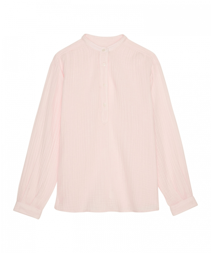 Chemise Codex en gaze de coton rose