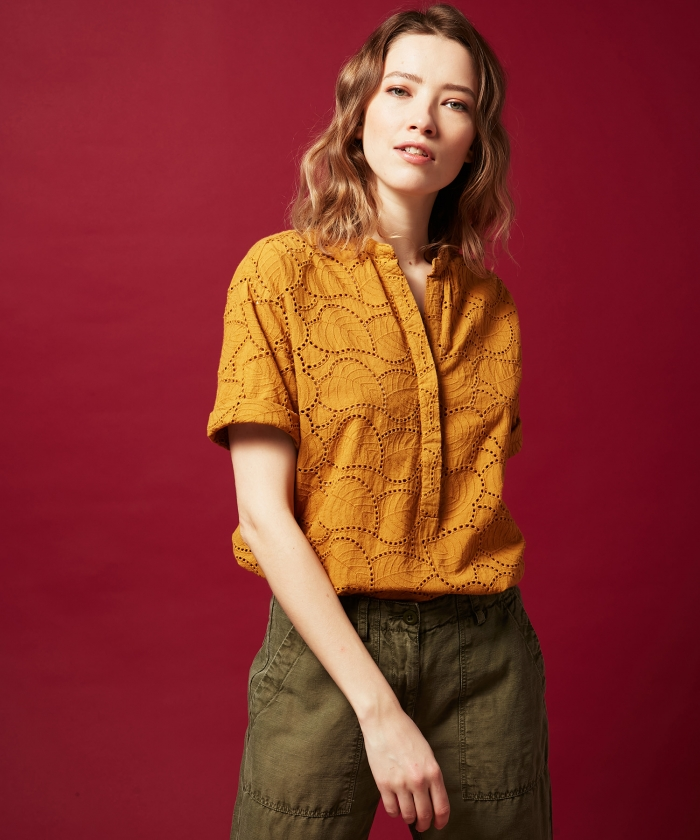Candide embroidered cotton shirt