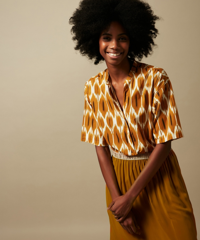 Candide Ikat cotton shirt