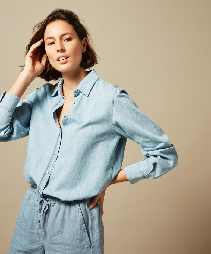 Chambray cotton Century shirt