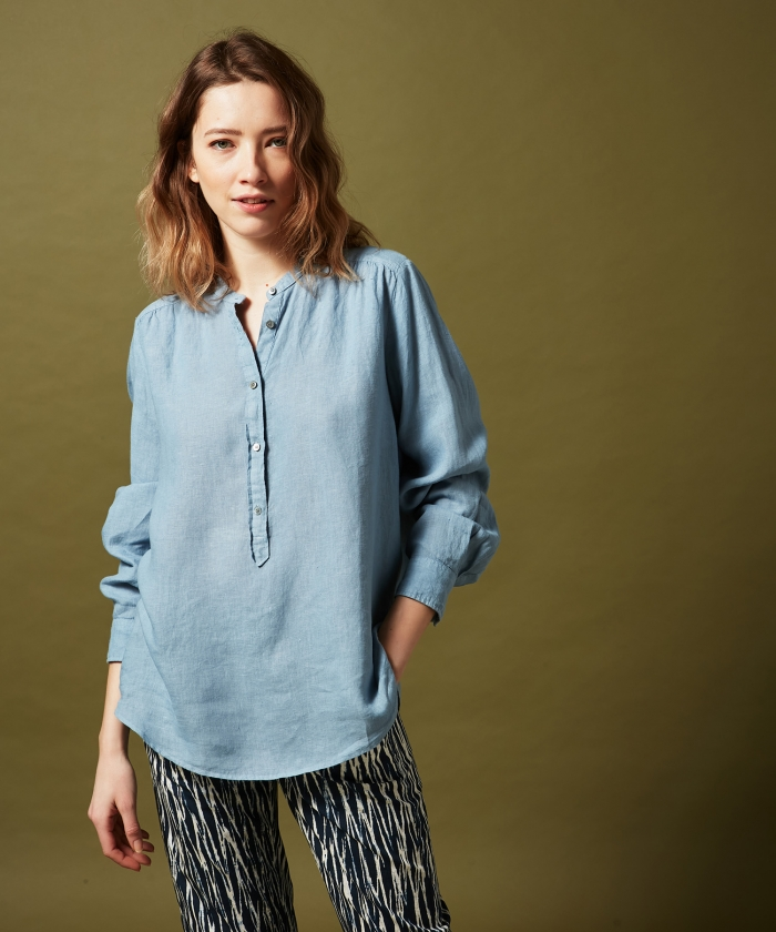 Blue linen Codex shirt