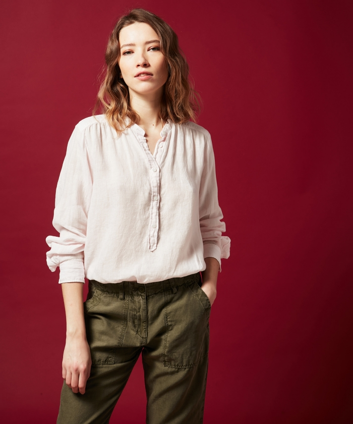 Light pink linen Codex shirt