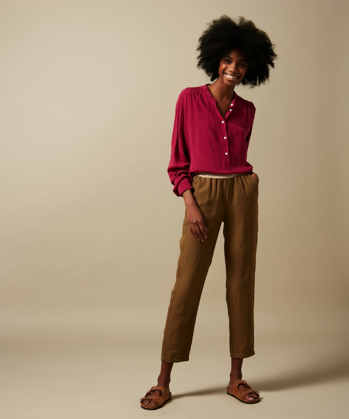 Pink viscose voile Codex shirt