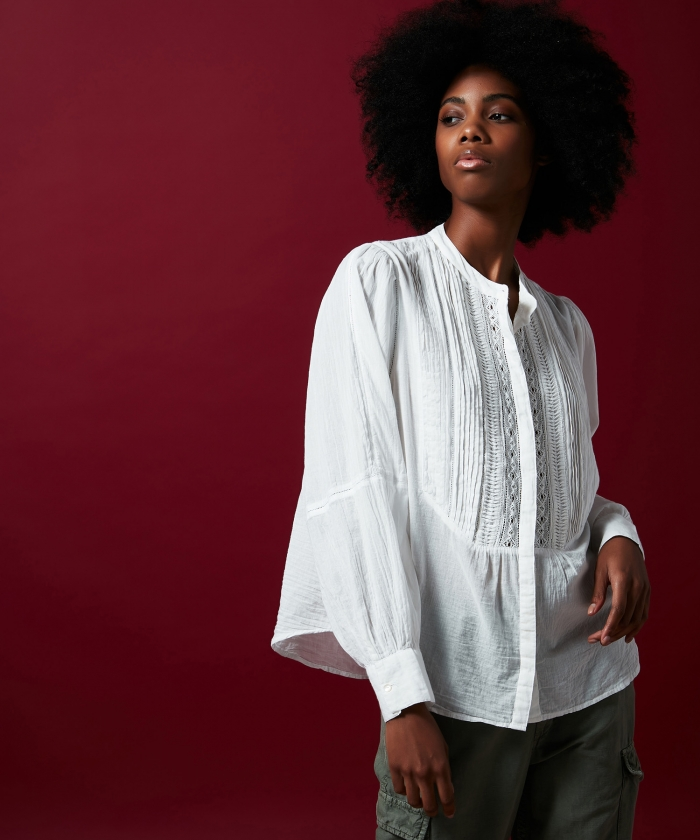 Oversize Celia embroidered shirt