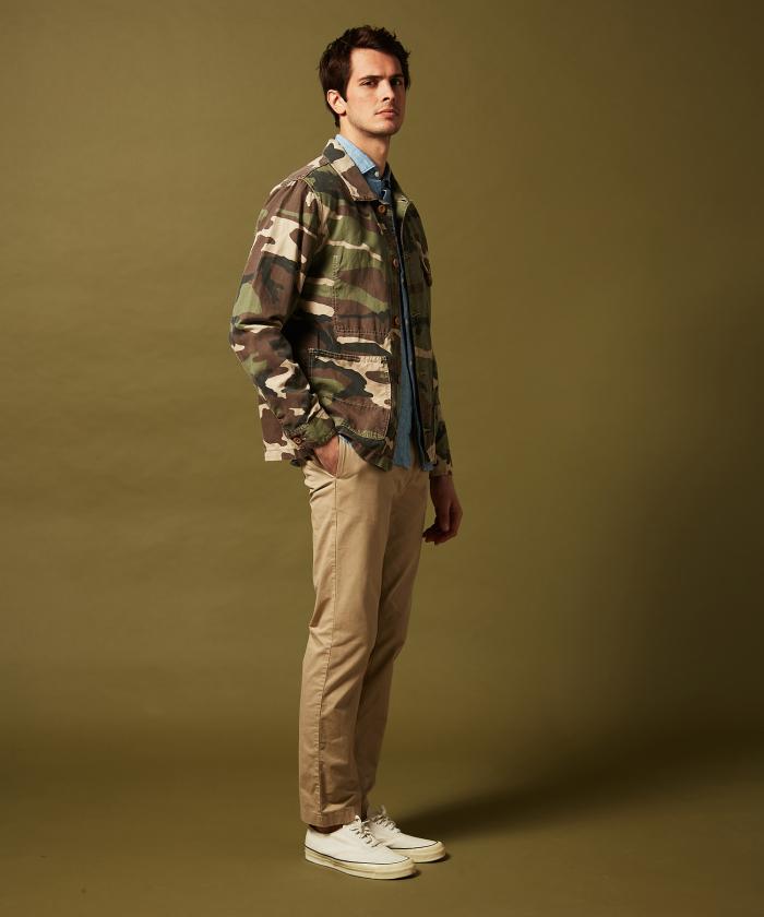 Veste Julian en coton camouflage