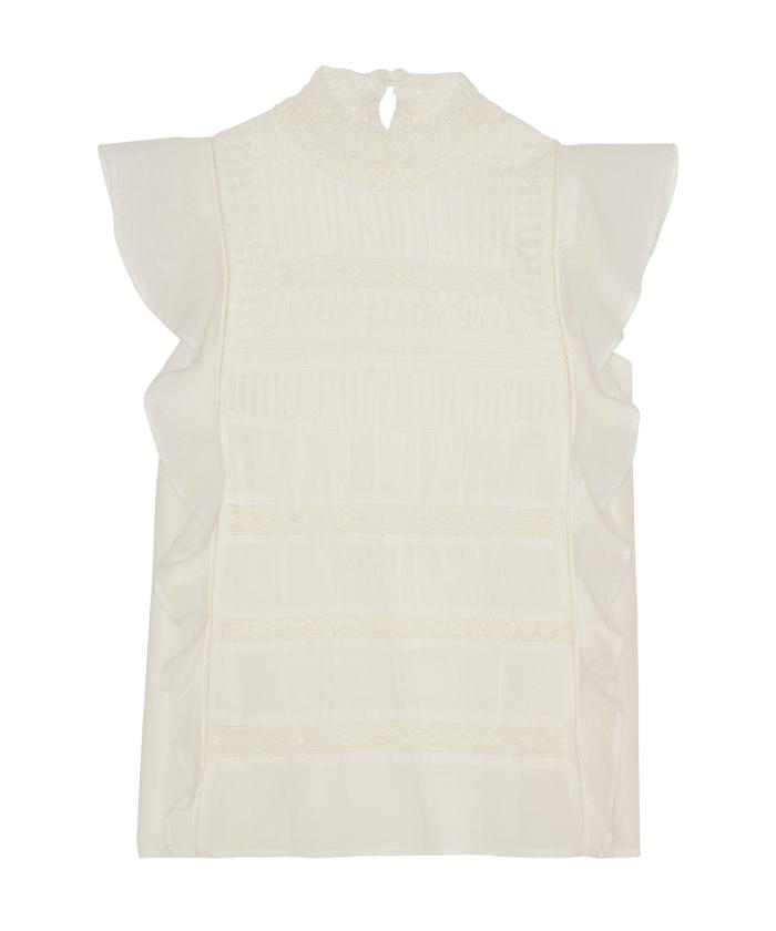 Blouse Horen en voile de coton blanc