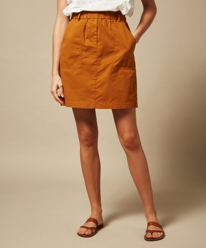 Joss peanut cotton skirt