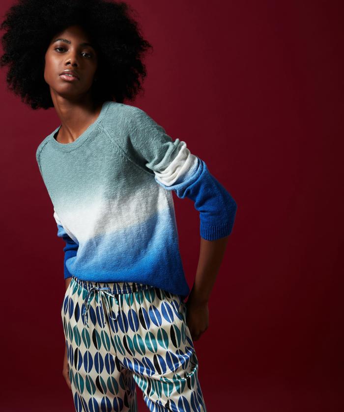 Mahine tie&dyed slub cotton sweater