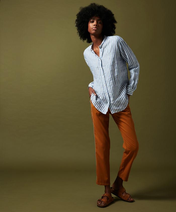 Pantalon Pao en coton noisette