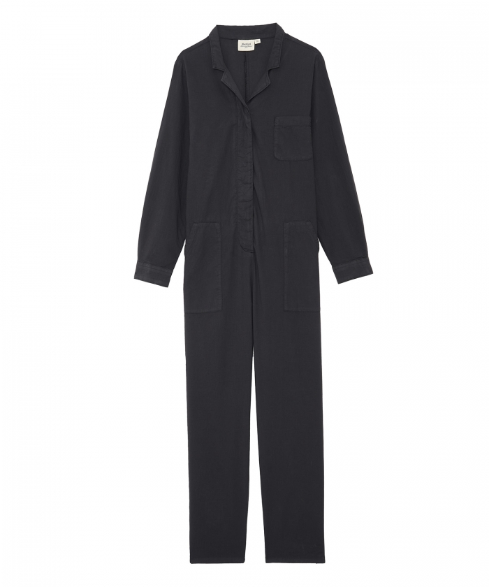 Pasty jumpsuit for girls in charcoal