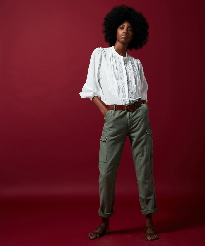 Pargot cotton and linen pants