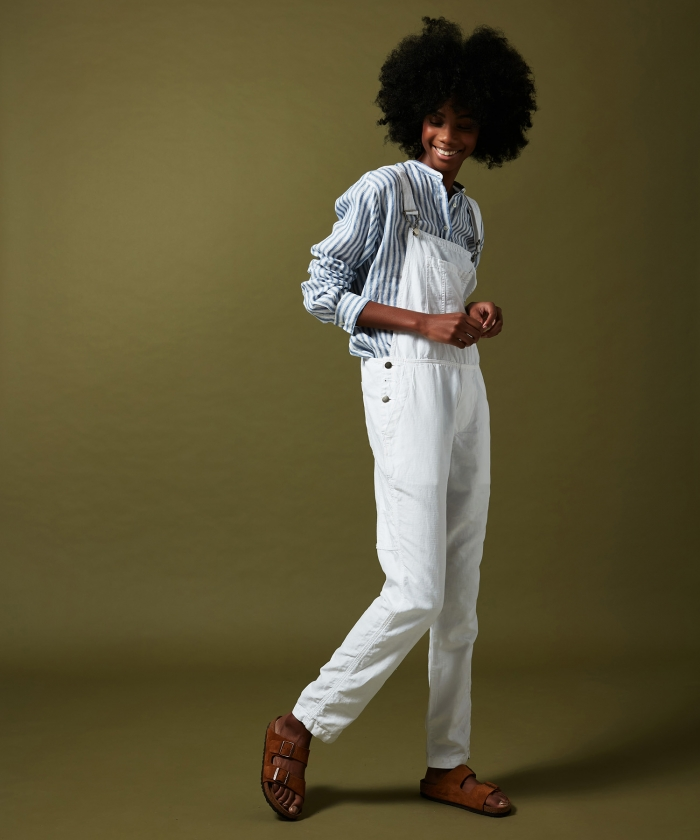 Pandol jumpsuit in cotton and linen