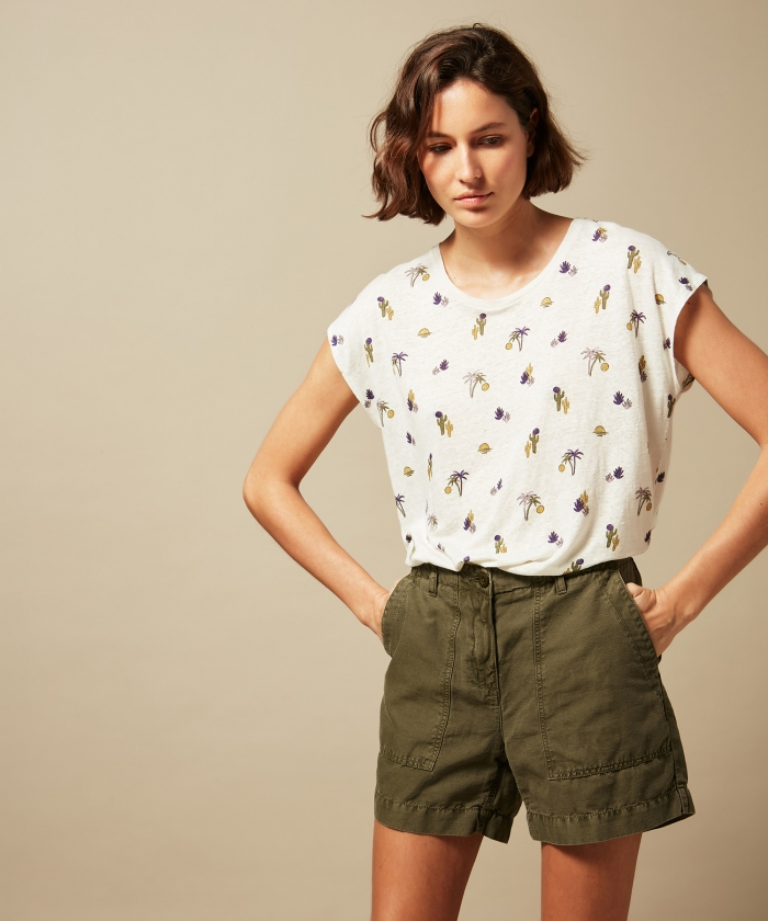 Summer printed Teri tee-shirt