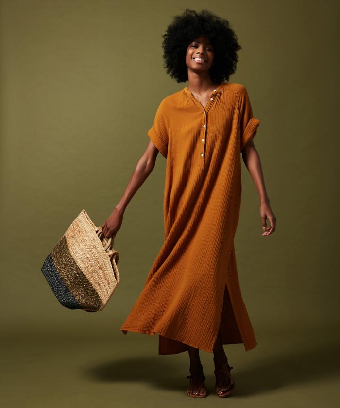 Raglan lightweight cotton dress