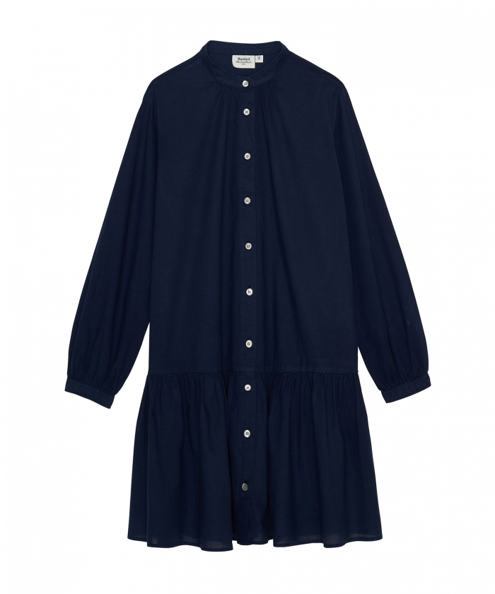 Robe Razzia fille en coton léger bleu nuit