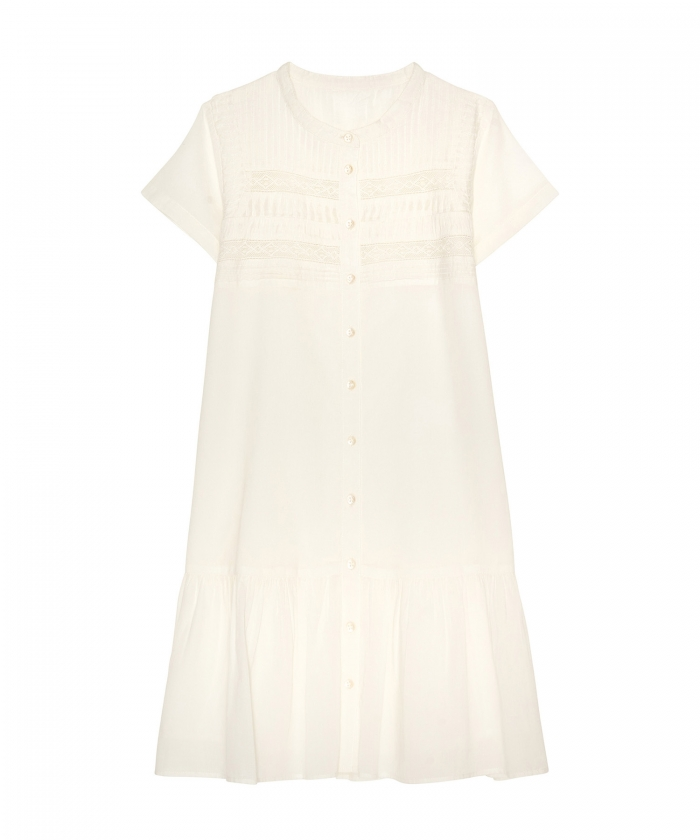 Rina white embroidered dress