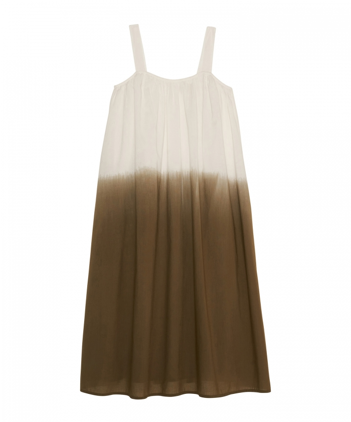 Robe Rosa dip dyed olive