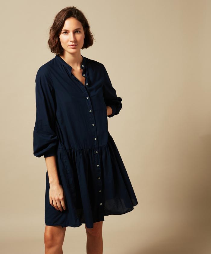 Night Blue cotton Razzia dress