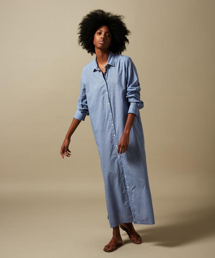 Blue fil-a-fil Reaction dress