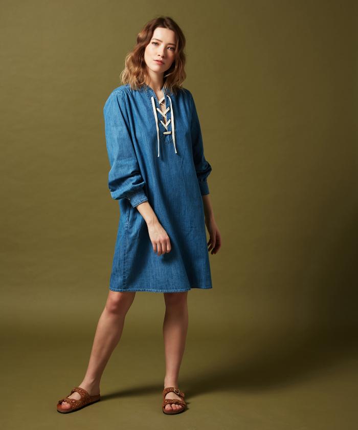 Chambray indigo Reference dress