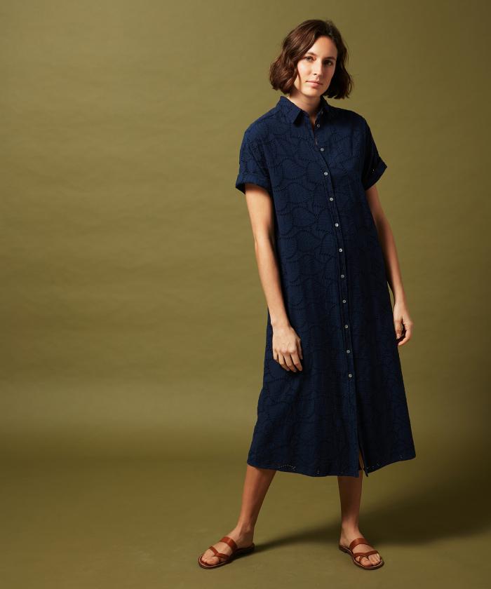 Rikker embroidered cotton dress