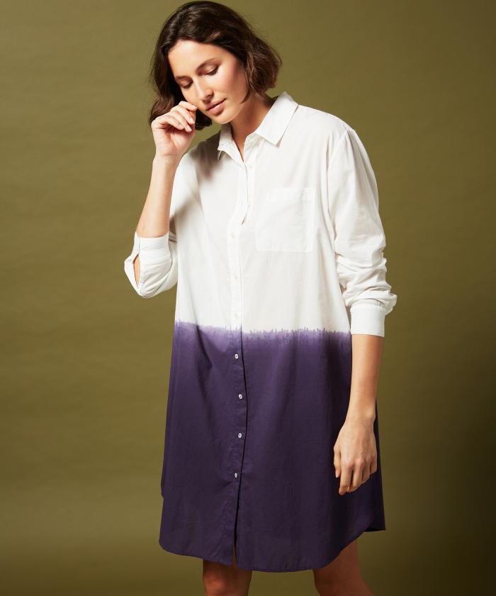 Romy dip dyed shirt dress