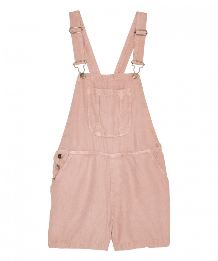 Pink cotton and linen jumpsuit
