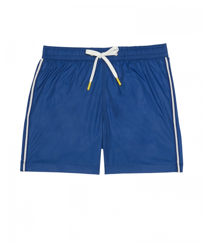 Indigo seersucker striped Achille shorts