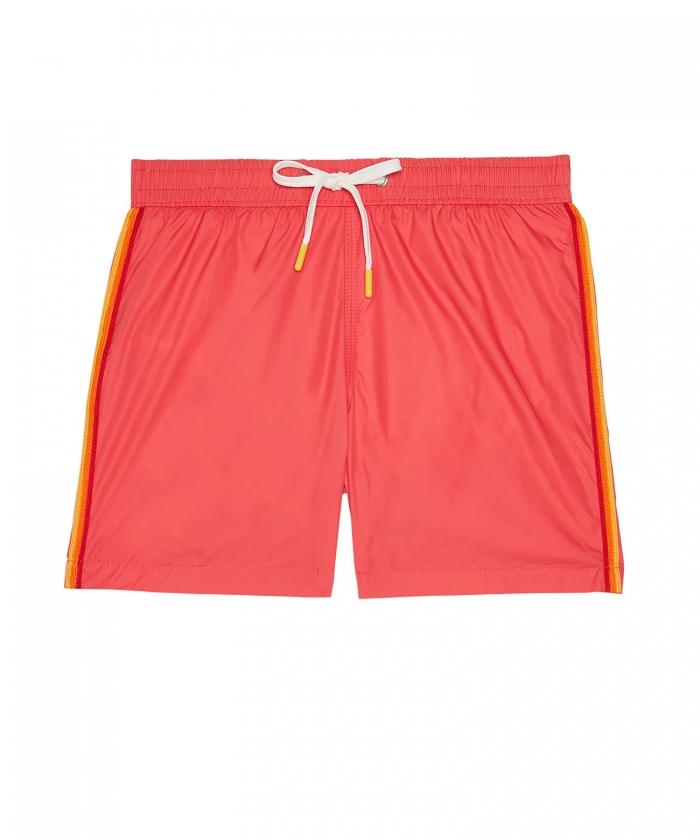Coral lightweight striped Achille shorts