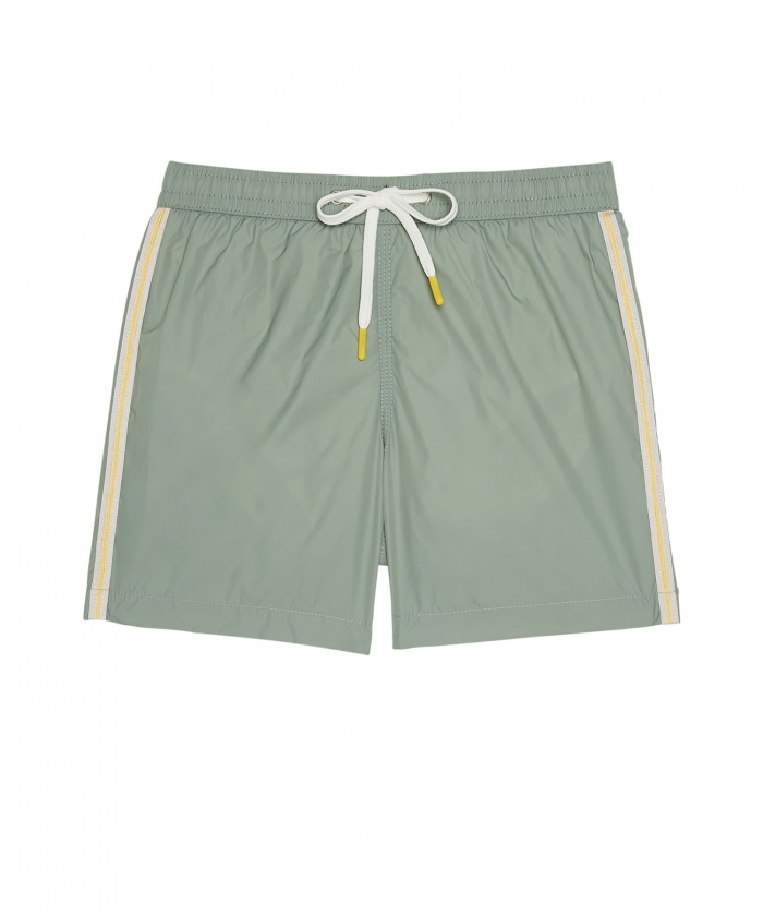 Sage lightweight striped Achille shorts