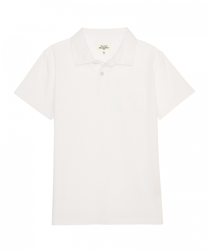 White cotton jersey polo