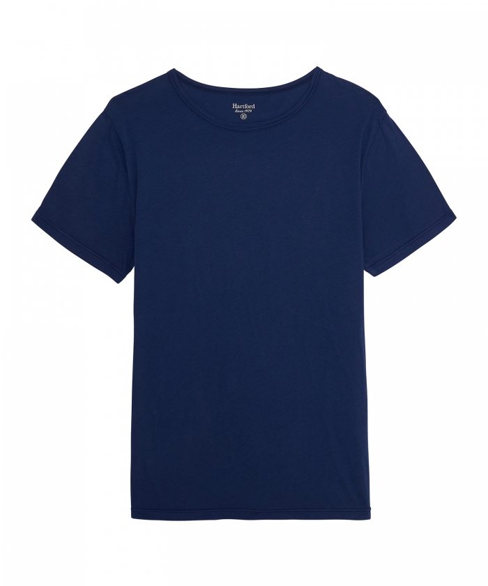 Tee-shirt enfant en light jersey bleu cobalt