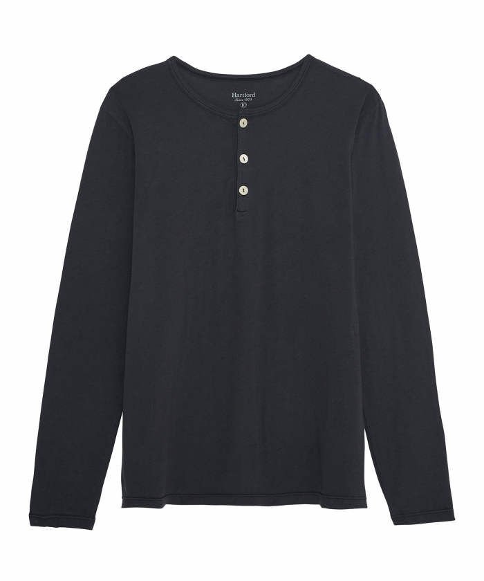 Charcoal light jersey kids Henley